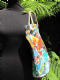 1950's Printed Vinyl Beach Bag & Matching Blow Up Lilo
